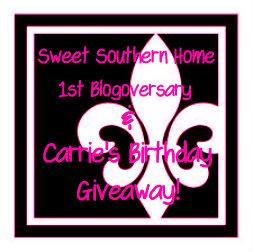 Birthday and Blogoversary Giveaway
