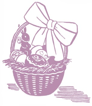 Is there a right way to send easter baskets by mail sweet stock images easter basket graphicsfairy purp1 negle Images